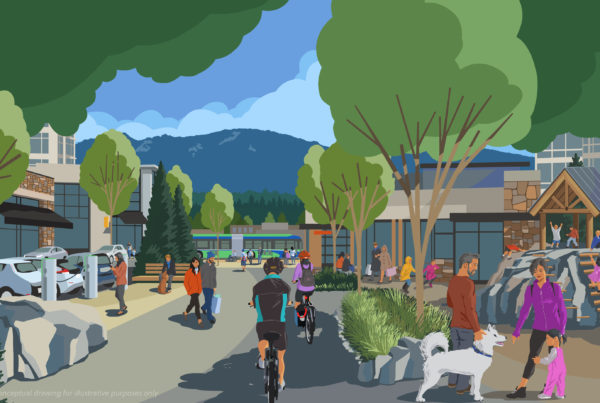 Thinking Cap transit illustration